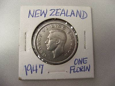 New Zealand 1947 1/2 Crown -George Vi King  Emperor -1 Yr. Issue -Low Mintage-cn