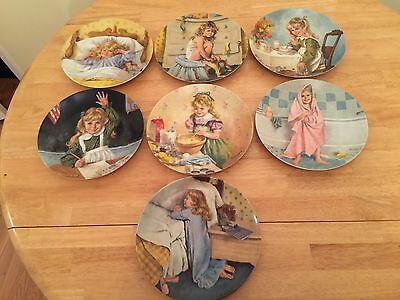 "John Mclelland Becky's Day Collection Set Of ""7"" Knowles Collector Plates"