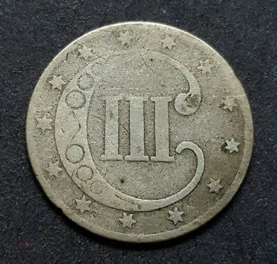 1853 3 Cent Silver - Better Date - Perfect Three Cent Album Type Coin!