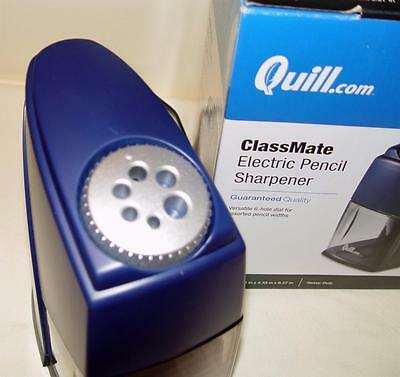 QUILL ClassMate 6 Hole Dial Electric Blue Pencil Sharpener Heavy Duty 356294QL