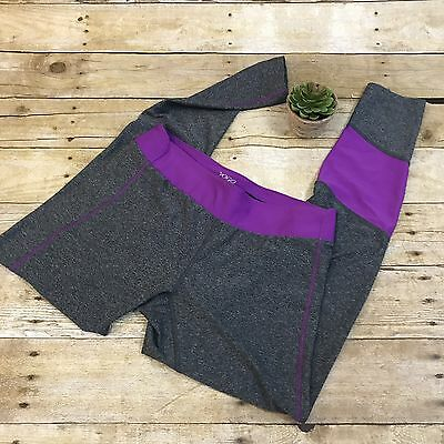 Vogo Athletica Gray Purple Active Yoga Running Legging Pants Long Women's Small