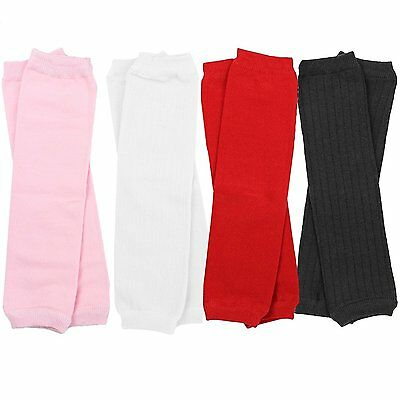 juDanzy Girls solid 4 pack of baby and toddler leg warmers