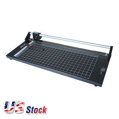 US - 24 Inch Manual Precision Rotary Paper Trimmer , Sharp Photo Paper Cutter