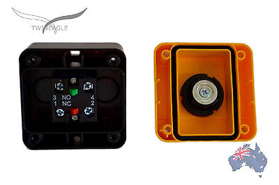 x 2 Emergency Stop, switch control, electrical 12V 24V E stop