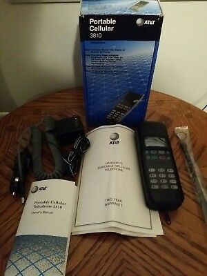AT&T Portable Cellular 3810 Cell Phone with Box Vintage