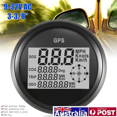 AU 85MM 300KM/H GPS Speedometer Gauge Digital Odometer For Car Auto Truck Marine
