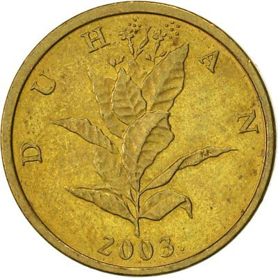 [#418655] Kroatien, 10 Lipa, 2003, VZ, Brass plated steel, KM:6