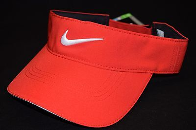 Nike Tech Tour Adjustable Golf Visor Hat Cap One Size Adjustable 727033 Red NEW