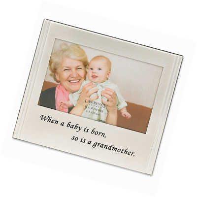 Lawrence Frames When a Baby is born so is a Grandmother Silver Plated 6x4 Pictur