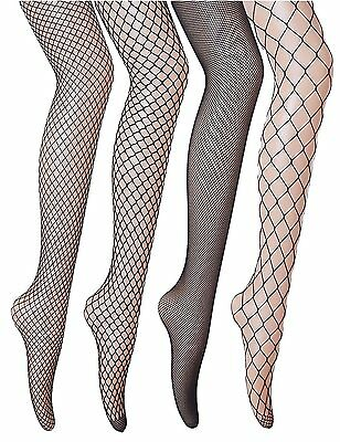 Veniroc Fishnets Stockings 4 Pairs Pantyhose Hollow Out Black Tights