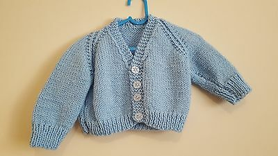 Boys handmade knitted cardigan Age 3-6 Months