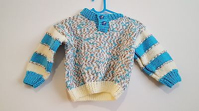 Boys handmade knitted Jumper Age 6-9 Months