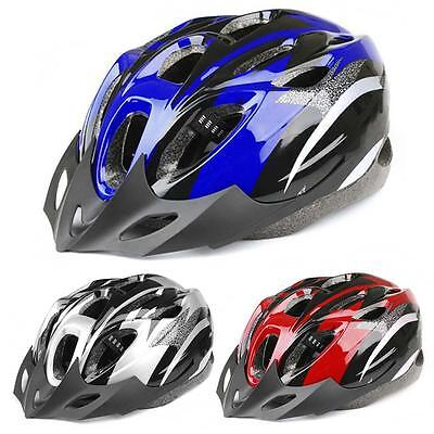 Mens Adult MTB Bike Bicycle Road Cycling 18 Holes Safety Helmet With Visor S KX