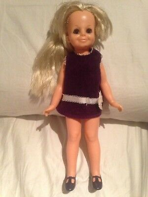 Ideal Crissy VELVET Doll TLC orig shoes & dress, sleepy eyes 1st ed + 1 dress