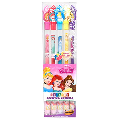 Disney Princess Colored Smencils - 5-Pack of Scented Colored Pencils