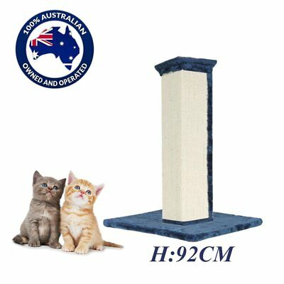 Cat Scratching Post Tree Scratcher Pole Gym Sisal House Furniture Tall 92CM BG