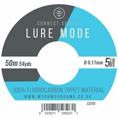 Wychwood Lure Mode 6lb bs Fluorocarbon Tippet 50m  Fly Fishing Leader £4.50