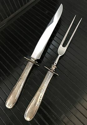 Sterling Silver Carving Knife And Fork