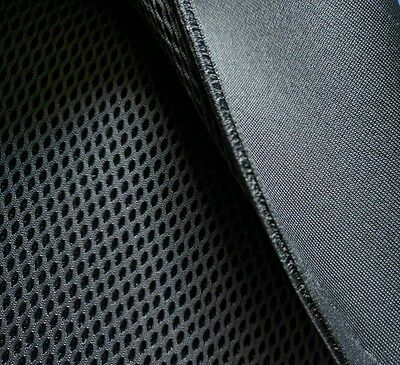 4mm* - 3D Spacer Mesh (SP16) - Fabric Material - BLACK - Semi-soft/180cm wide