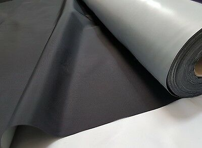 9oz/250gsm* - BLACK - WATERPROOF - POLYESTER - FABRIC MATERIAL CLOTH - 150cm