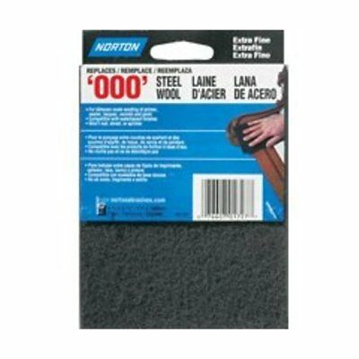 "Norton 01727 Synthetic Steel Wool Pad 4-3/8"" x 5-1/2"" Extra Fine Gray"