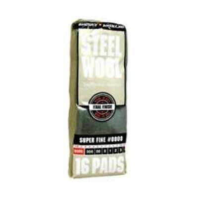 Homax 106600-06 Super Fine #0000 Steel Wool Pad, Pack-16