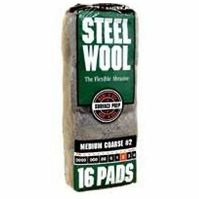 Homax 106605-06 Steel Wool Medium Course Pads, #2