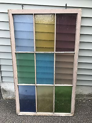 Stained glass window. All colors included on window. Good condition.