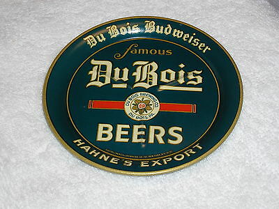 1935 DuBois Pa. Budweiser Beers Tip Tray TOP LIGHT SCRATCHES, BOTTOM LIGHT RUB