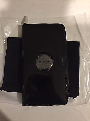 NEW STOCK! BNWT MIMCO TRAVEL WALLET BLACK PATENT RRP 199 - Express