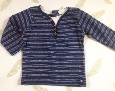 Purebaby Boys Long Sleeve Top Size 3-6 Months 00
