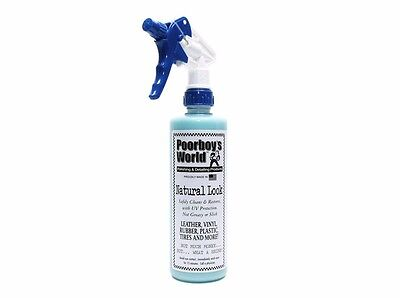 Poorboy's Car Natural Look 473ml Interior Polish Leather Tyre PoorBoys World
