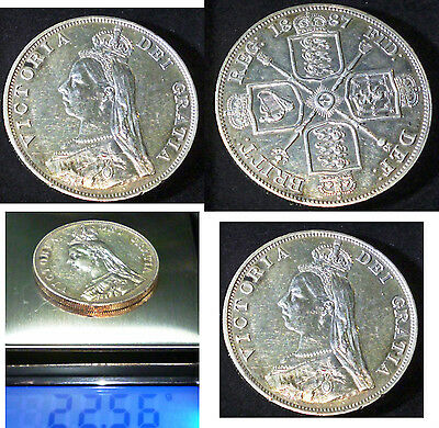 1887 Great Britain Double Florin KM# 763