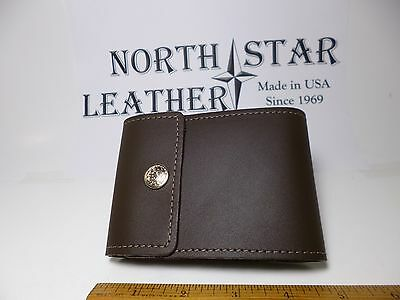 North Star Brown End Stub Leather Checkbook Cover-Made In USA-1st Quality#134