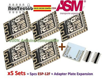 5pcs ESP12F ESP-12F ESP8266 Enhanced version Serial WIFI + Plate Expansion