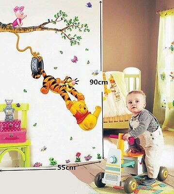 ❤Nouveau Disney Winnie L'ourson Grands Stickers Autocollants Amovibles Chambre