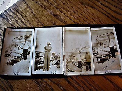 4 REAL Unpublished 1935 Photos Deck Of SS Normandie Ocean Cruise Liner Pictures