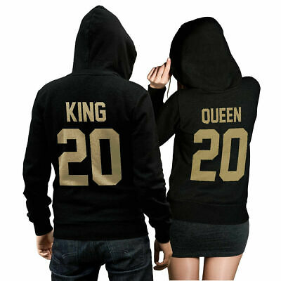 king queen 01 set 2hoodies pullover pulli liebe love. Black Bedroom Furniture Sets. Home Design Ideas