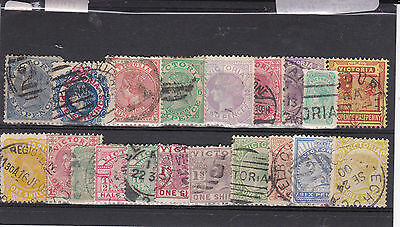 STAMPS..Australia..Victoria , x 20 very early ones , all used