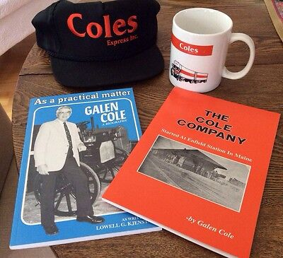 Cole's Express-New England's Oldest Freight Carrier Hat Mug And Books Lot