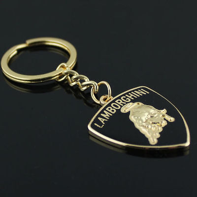 High-grade Lamborghini Car KeyRing STAINLESS CAR LOGO FOB KEY RING KEY CHAIN