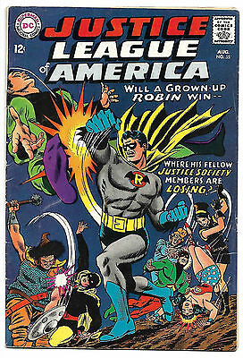Justice League of America #55 Fine 6.0 NICE! 1st Golden Age Robin .99 CENT SALE!