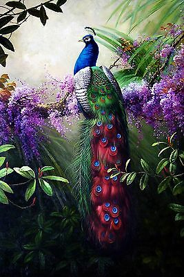 HD Print On Canvas Peacock Oil Painting Picture Modern Art Home Decor PD002