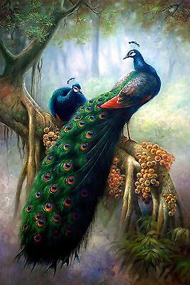 HD Print On Canvas Peacock Oil Painting Picture Modern Art Home Decor PD003