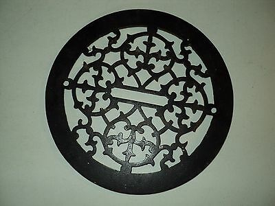 Vintage Round Cast Iron Register Heat Grate Register Architectural Salvage