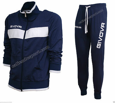 Suit mens Cotton Givova Terry Sports Leisure Gym blue casual gym