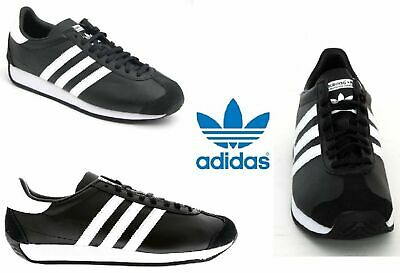 competitive price de036 0be21 SHOE ADIDAS ORIGINALS COUNTRY OG MEN SNEAKERS Leather Black White New S81861
