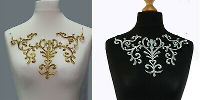 Extra Large Embroidery Iron/Sew on patch  motif  costume #13 Color: Gold  Silver