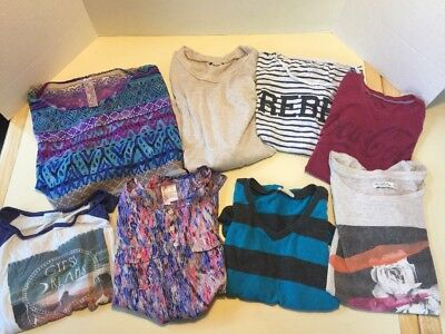 Huge TRENDY lot girls size 10 12 Large fashion printed shirts tops SCHOOL Fitch
