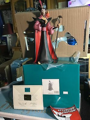 "WDCC Disney ""Villainous Vizier"" Jafar and Iago from Aladdin (S21007474)"